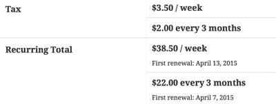 screenshot showing how a customer can purchase multiple subscriptions at WooCommerce checkout