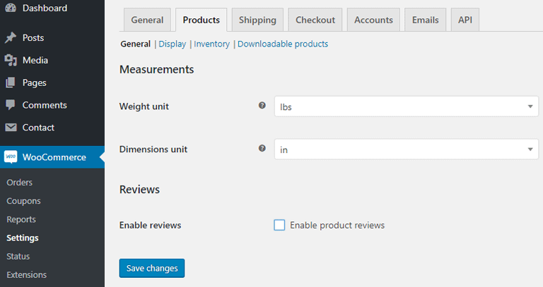 screenshot showing how to disable reviews on all all products in WooCommerce