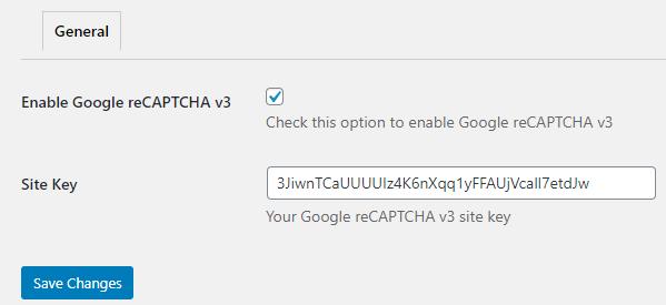 wp login form settings